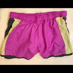 Adidas Women's Running Shorts Purple Neon Black